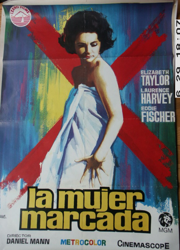 BUTTERFIELD 8  Spanish poster Elizabeth Taylor