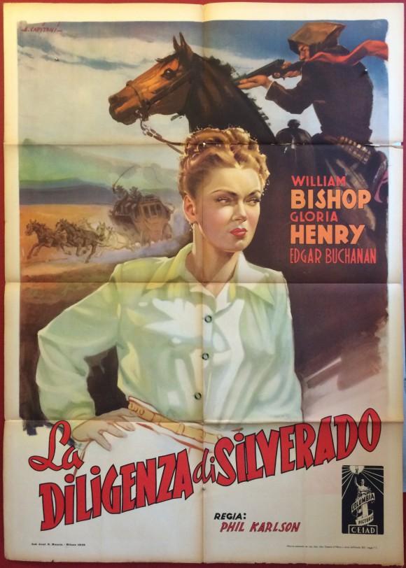 ADVENTURES IN SILVERADO Italian vintage MOVIE POSTER by ALFREDO CAPITANI 1949