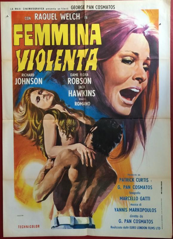BELOVED aka SIN original movie poster RAQUEL WELCH 1971