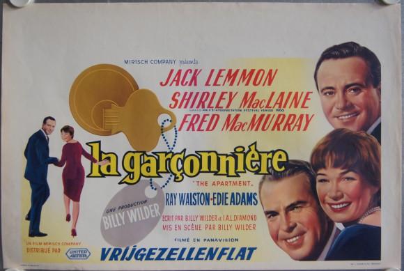 APARTMENT, The  belgian poster Jack Lemmon Shirley MacLaine