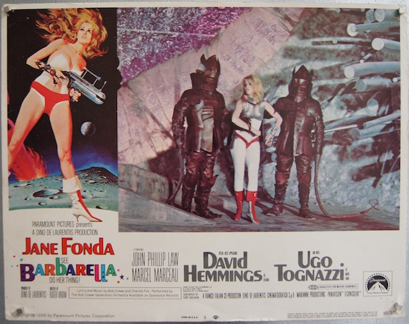 BARBARELLA lobby card 1968 Jane Fonda