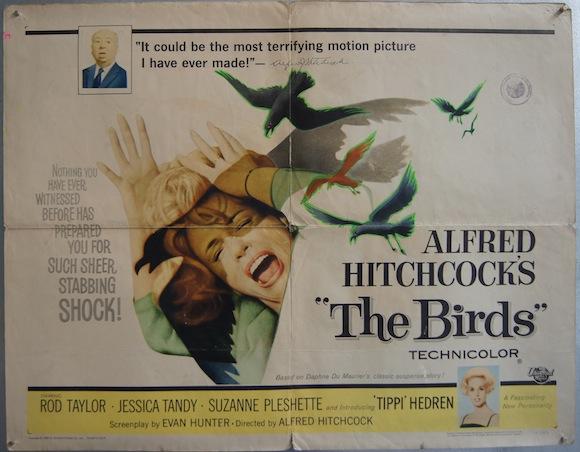 BIRDS halfsheet 1963 Alfred Hitchcock