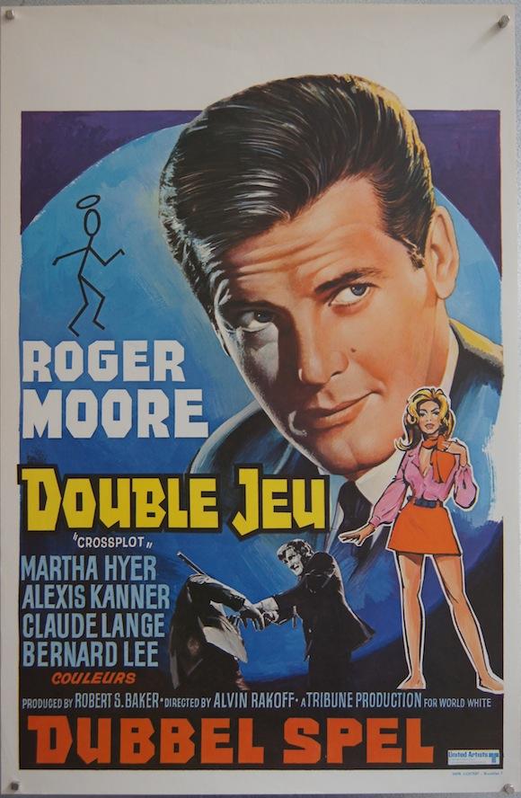 CROSSPLOT Belgian poster 1969 Roger Moore