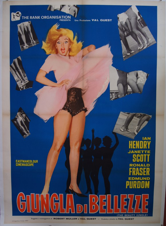 BEAUTY JUNGLE original Italian movie poster Janette Scott linen