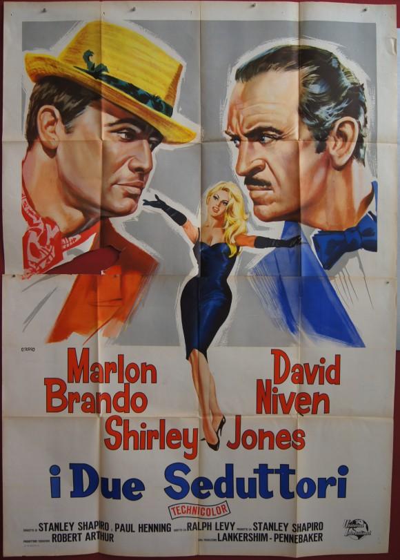 BEDTIME STORY Italian quattro foglie Marlon Brando David Niven