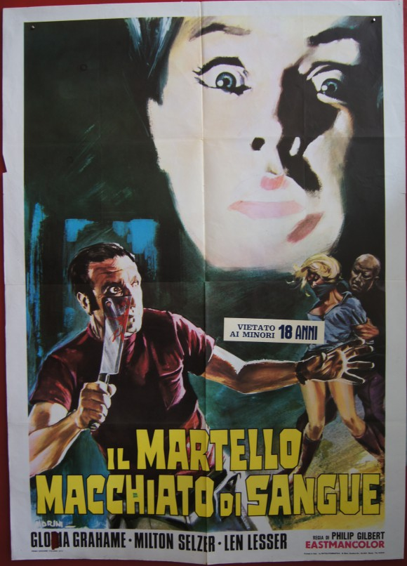BLOOD AND LACE original Italian movie poster Philip Gilbert