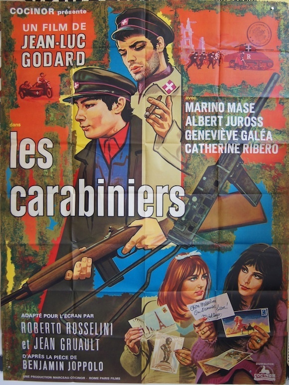 CARABINIERS French poster (47×63″) Jean-Luc Godard