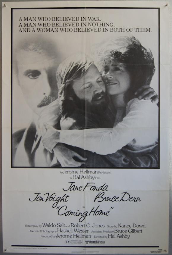 COMING HOME onesheet 1977 Jane Fonda John Voight