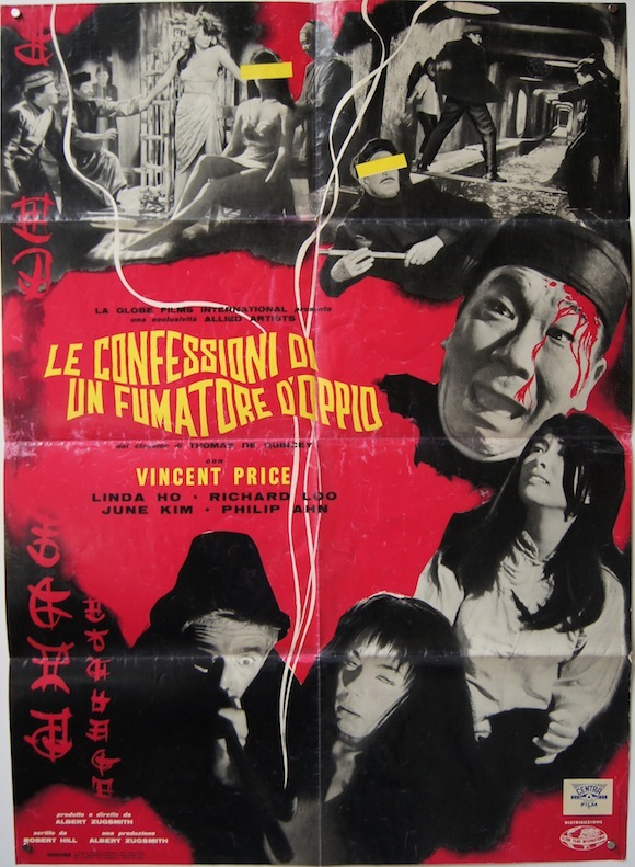 CONFESSIONS OF AN OPIUM EATER Italian double fotobusta Vincent Price