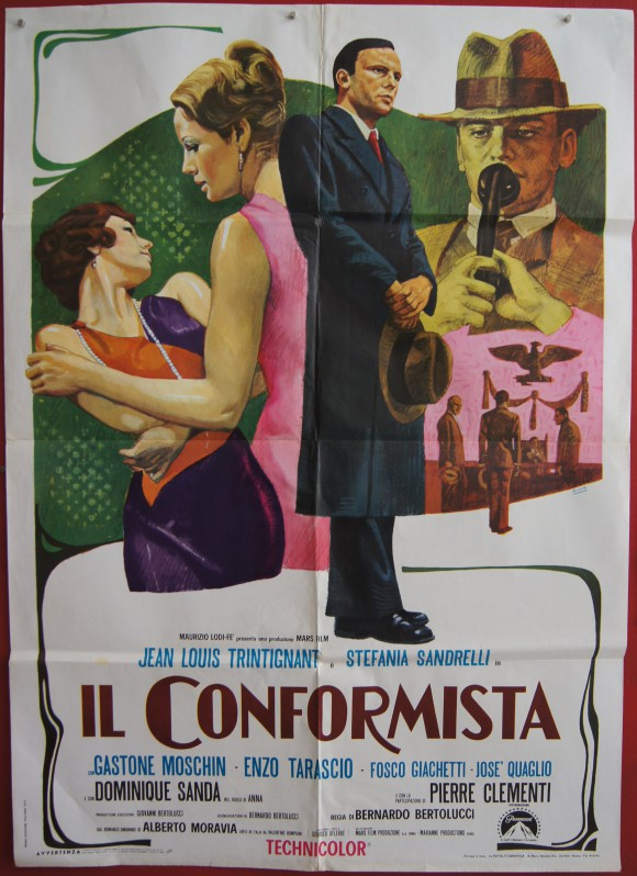 CONFORMISTA original Italian movie poster Bernardo Bertolucci
