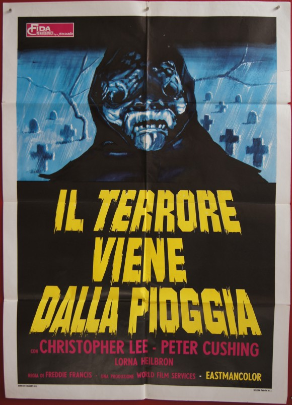 CREEPING FLESH original Italian movie poster Christopher Lee Peter Cushing