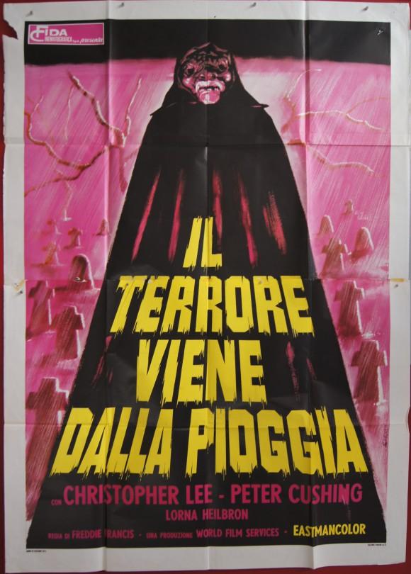 CREEPING FLESH Italian quattro foglie Christopher Lee Peter Cushing