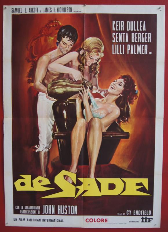 DE SADE original Italian movie poster Keir Dullea Senta Berger