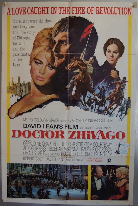 DOCTOR ZHIVAGO US onesheet 1965 Julie Christie Omar Sharif