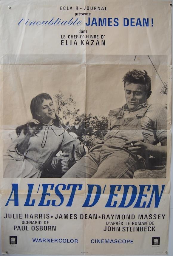 EAST OF EDEN French poster (31×42″) 1960's James Dean Julie Harris