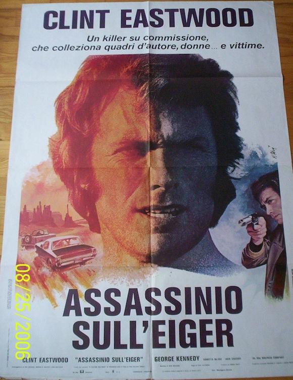 EIGER SANCTION Italian movie poster 1975 Clint Eastwood