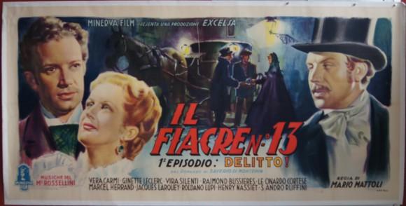CAB NUMBER 13 sei foglie (116×55″) original Italian poster Vera Carmi Sandro Ruffini linen