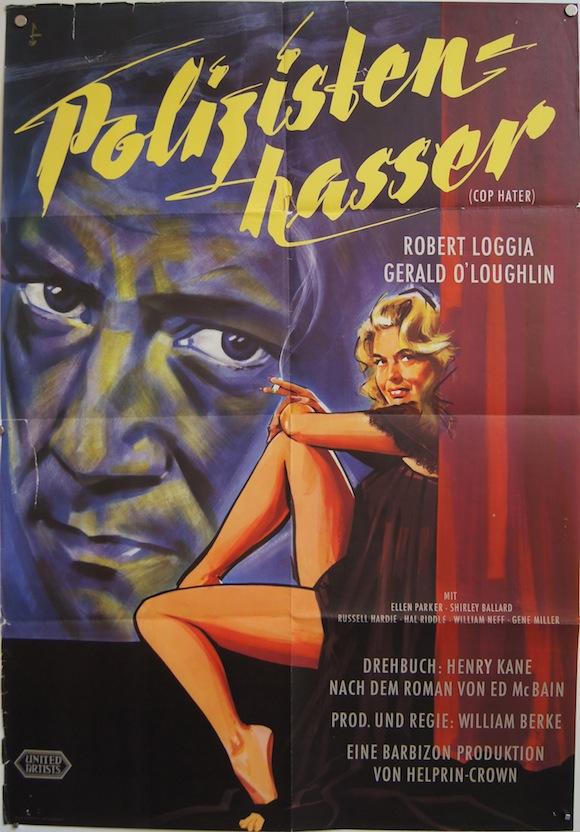 COP HATER original German movie poster FILM NOIR