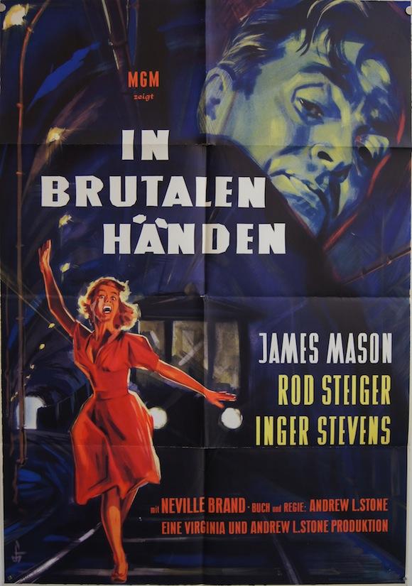 CRY TERROR original German movie poster JAMES MASON