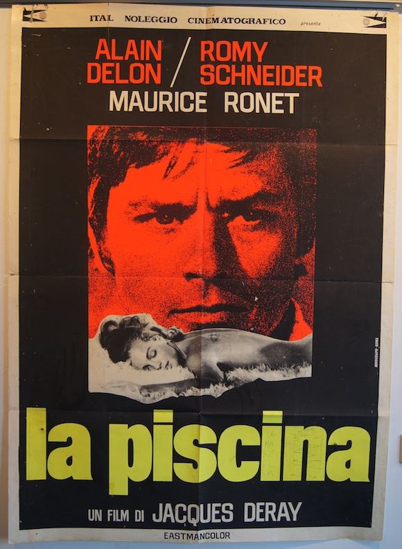 Zzz sold piscine original italian movie poster alain for Alain delon la piscine streaming