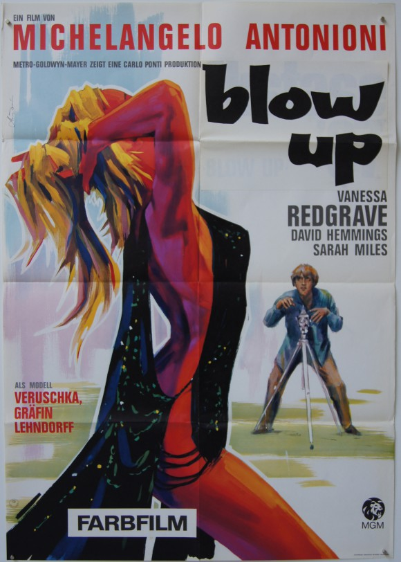 BLOW-UP original German A1 poster Michelangelo Antonioni Veruschka