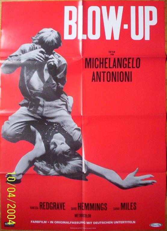 BLOW-UP German rerelease Michelangelo Antonioni David Hemmings