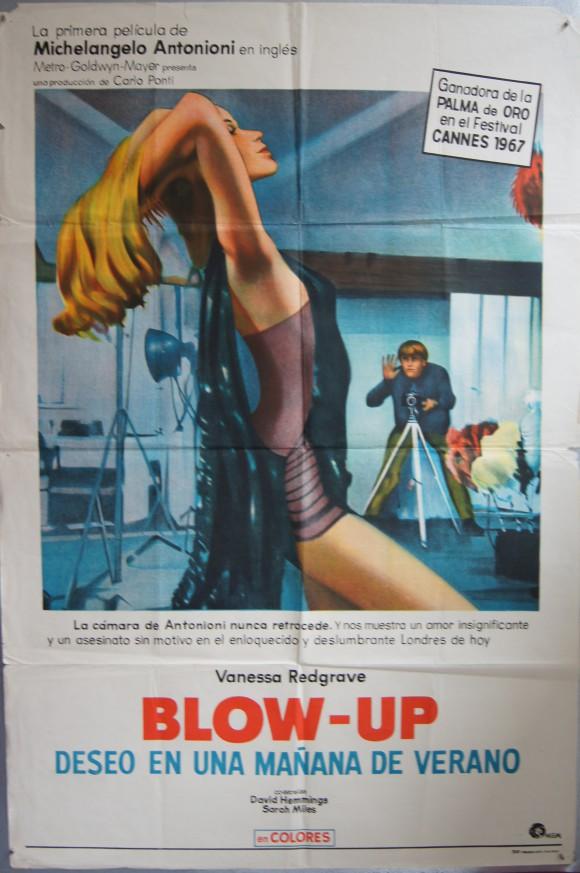 BLOW-UP Argentinean poster Vanessa Redgrave Michelangelo Antonioni