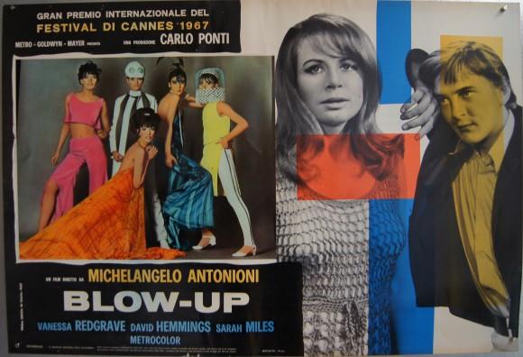 BLOW-UP Italian complete fotobusta set Vanessa Redgrave Antonioni