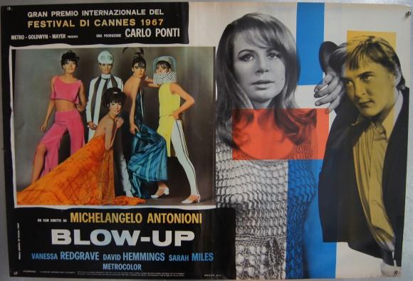 BLOW-UP Italian fotobusta Michelangelo Antonioni Sarah Miles & the models