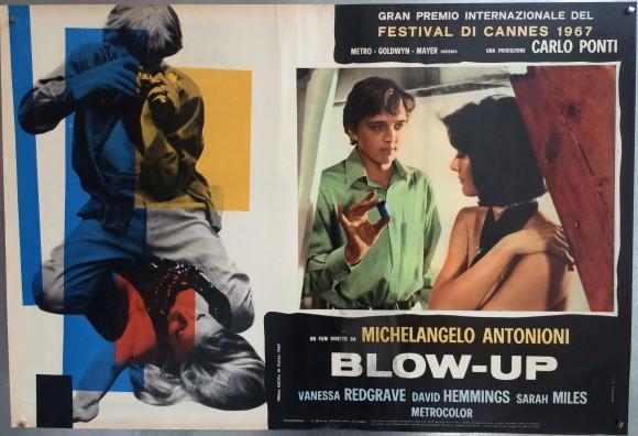BLOW-UP Italian fotobusta Michelangelo Antonioni Vanessa Redgrave