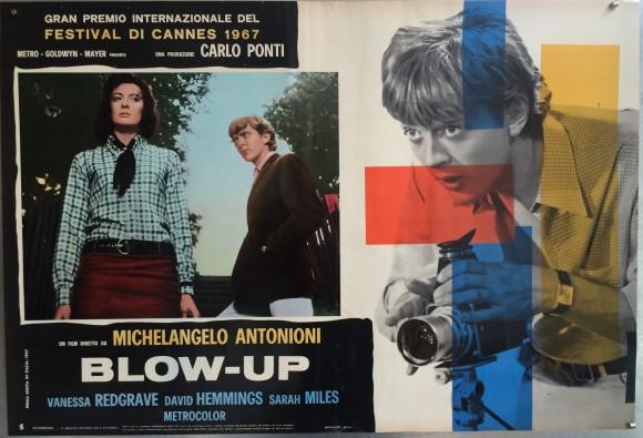 BLOW-UP Italian fotobusta Michelangelo Antonioni Vanessa Redgrave David Hemmings