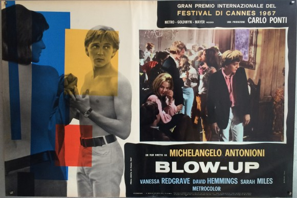 BLOW-UP Italian fotobusta Michelangelo Antonioni David Hemmings