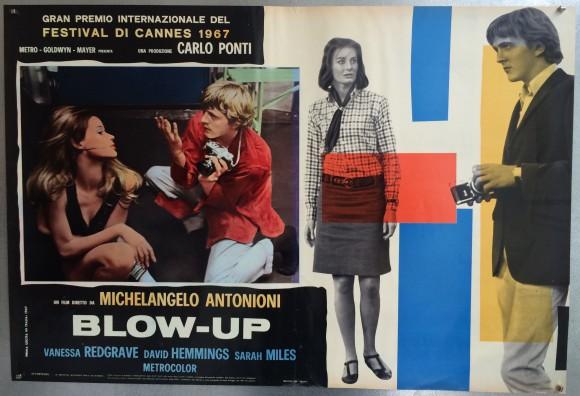 BLOW-UP Italian fotobusta Michelangelo Antonioni Vanessa Redgrave Veruschka
