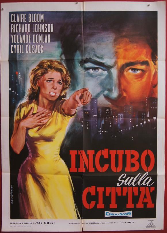 80,000 SUSPECTS original Italian movie poster CLAIRE BLOOM