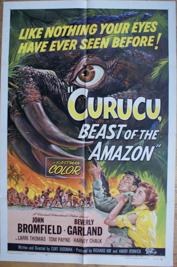 CURUCU BEAST OF THE AMAZON original poster FIFTIES MONSTER SCIFI 1956 art by REYNOLD BROWN