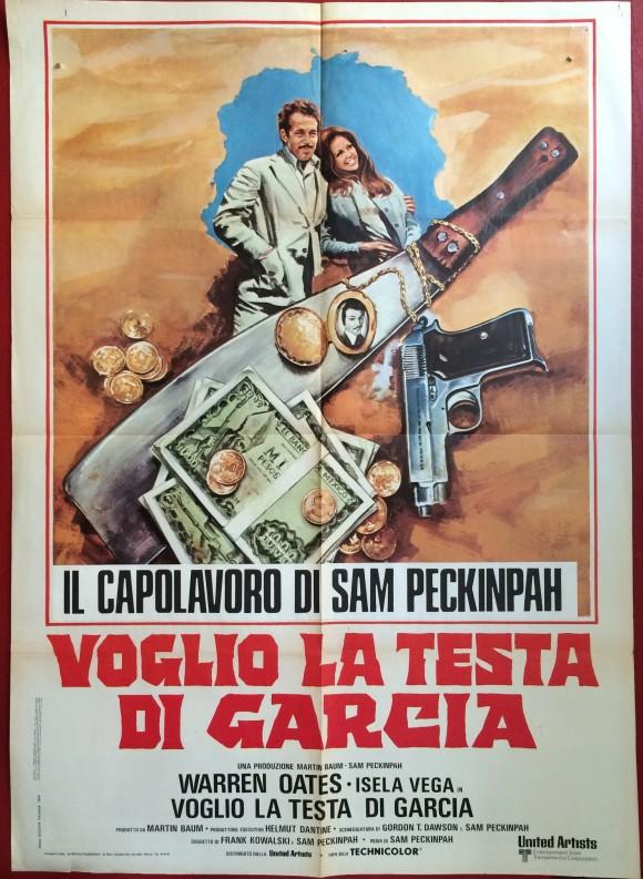 BRING ME THE HEAD OF ALFREDO GARCIA Italian vintage MOVIE POSTER SAM PECKINPAH