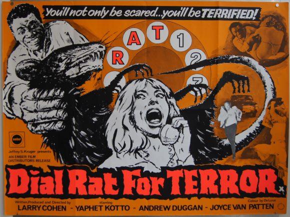 BONE aka DIAL RAT FOR MURDER original BRITISH movie poster 1972COMEDY EXPLOITATION