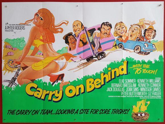 CARRY ON BEHIND original BRITISH movie poster ELKE SOMMER