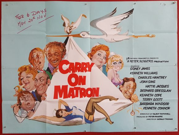 CARRY ON MATRON original BRITISH movie poster SIDNEY JAMES BARBARA WINDSOR