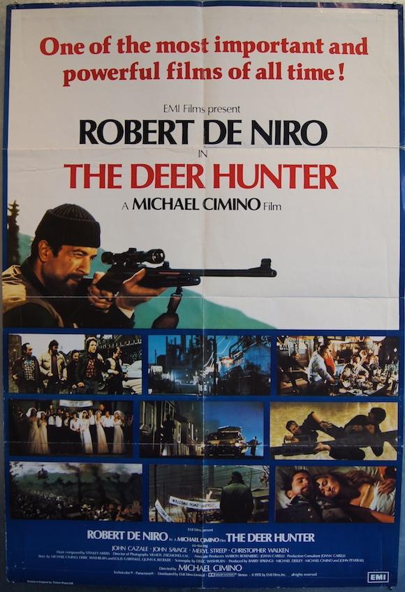 DEER HUNTER original BRITISH movie poster ROBERT DE NIRO