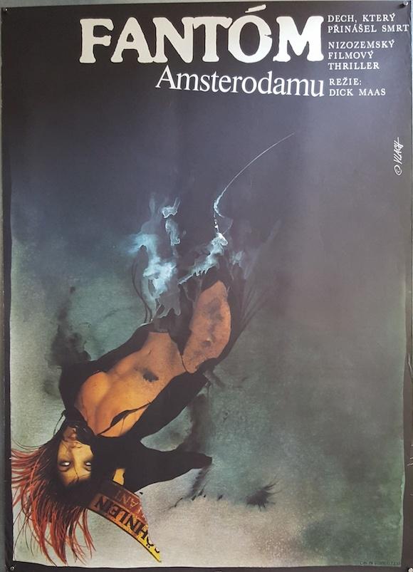 AMSTERDAMNED original Czech movie poster CULT Dick Maas