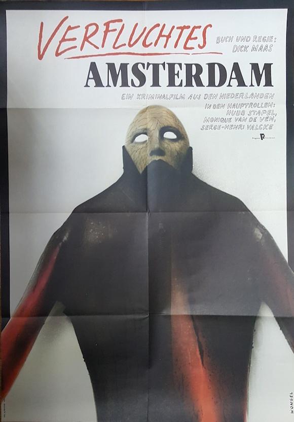 AMSTERDAMNED original East German movie poster CULT Dick Maas