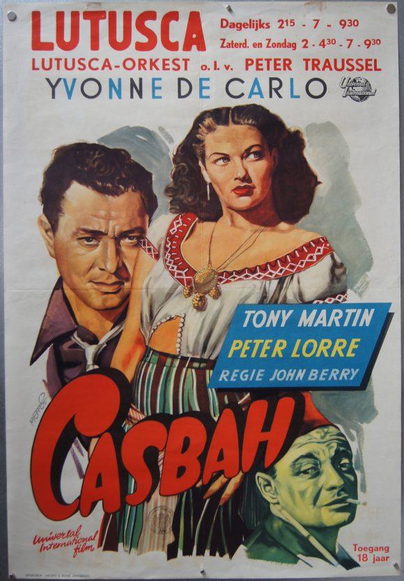 CASBAH original Dutch movie poster by FRANS METTES 1949 PETER LORRE YVONNE DE CARLO