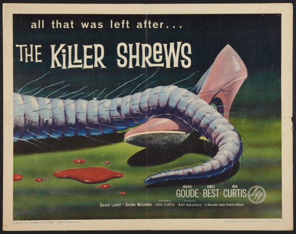 "The KILLER SHREWS halfsheet (22x28"")"