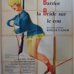 Brigitte Bardot on skis French poster MOVIE★INK. AMSTERDAM