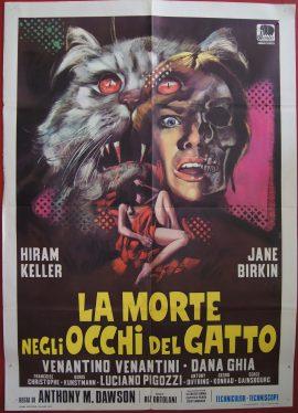 SEVEN DEAD IN THE CAT'S EYE due foglio poster