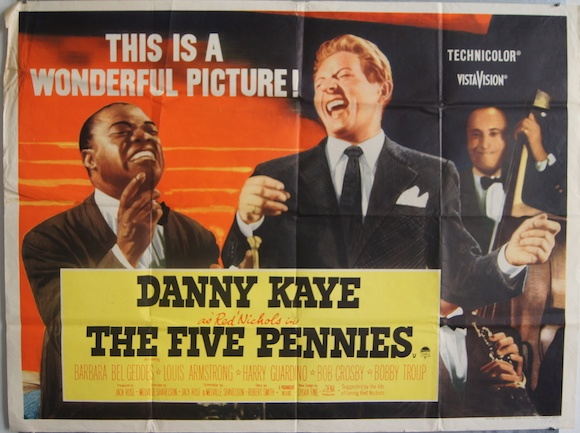 FIVE PENNIES original BRITISH movie poster LOUIS ARMSTRONG DANNY ...