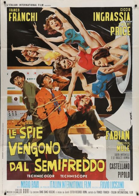 Dr. GOLDFOOT AND THE GIRL BOMBS Italian poster