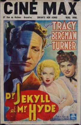 DR JEKYLL AND MR HYDE Belgian poster