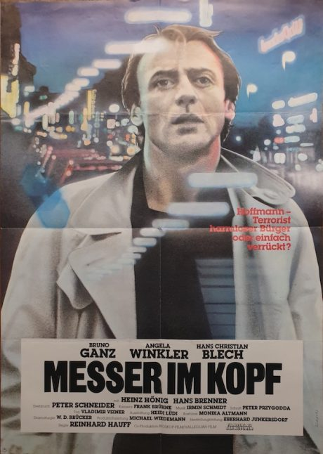 MESSER IM KOPF 1984 German poster